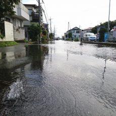 異常気象による道路冠水と氾濫の危険性
